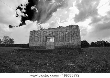 Old abandoned munitions store of the Soviet Army