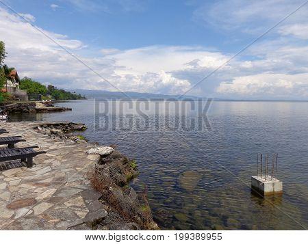 Shores of Lake Kivu at Goma in the Democratic Republic of Congo