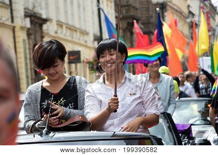 Women Participating In Prague Pride - A Big Gay & Lesbian Pride