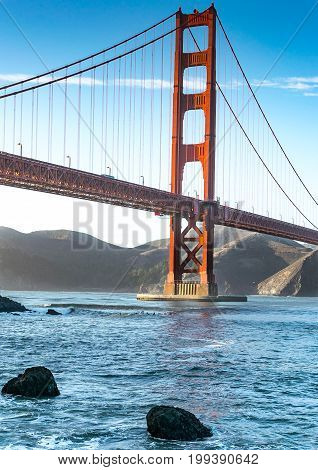 San Francisco Golden Gate Bridge Sunset Tourism