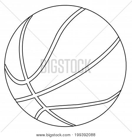 A large black and white basketball isolated on a white background.