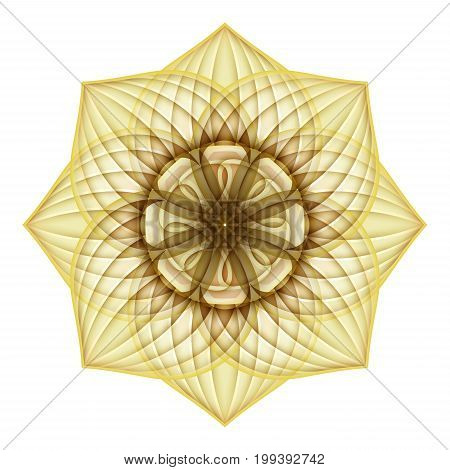 Gold Beautiful Decorative Ornate Mandala