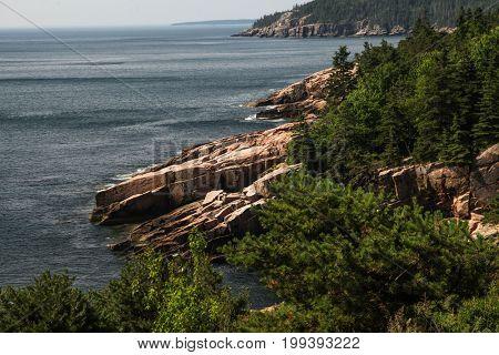 Coastline in Acadia national park, Maine