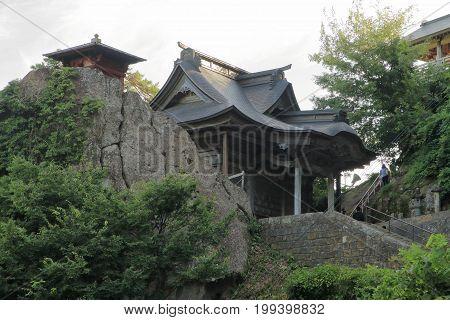 Sutra Repository And Kaisando Of Risshaku Ji (yamadera) In Yamagata, Japan