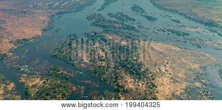 Zambezi River Next To The Victoria Falls