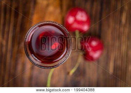 Cherry Liqueur Selective Focus