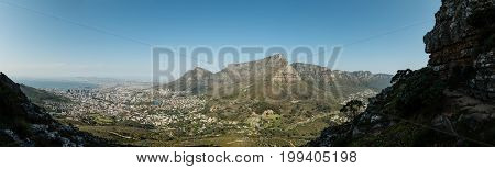 Cape Town And Table Mountain (panoramic View)