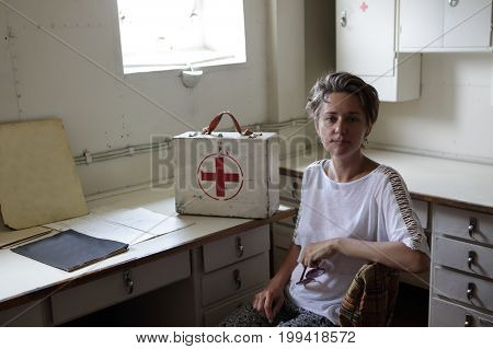 Woman In Medical Room