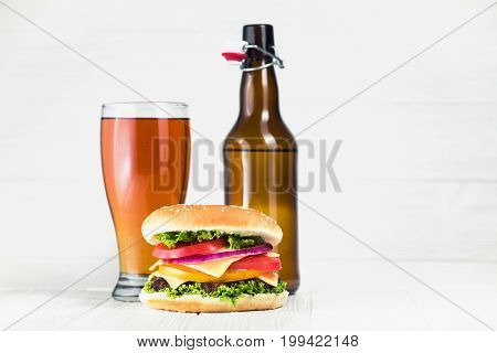 Classic Burger And Beer Glass