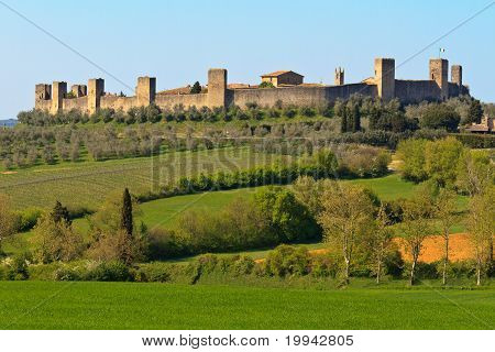 City Of Monteriggioni Near Siena, Tuscany, Italy