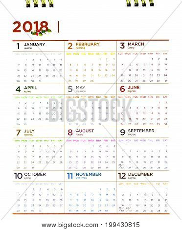 Close up of calendar year 2018 The future has not yet reached