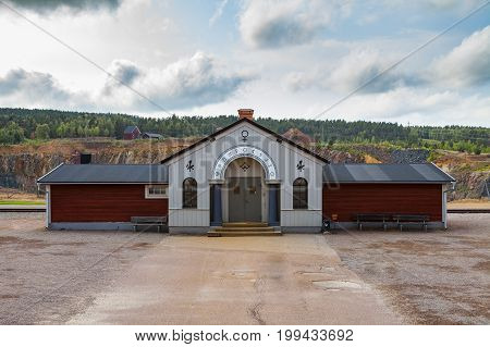 Mining Area of the Great Copper Mountain in Falun, Sweden - UNESCO World Heritage Site. The are an outstanding example of a technological ensemble with a historical industrial landscape.
