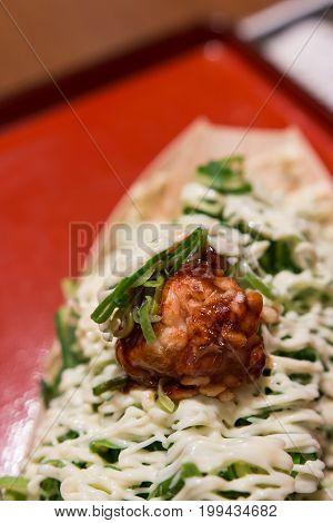 takoyaki japanese famous menu can found in street food