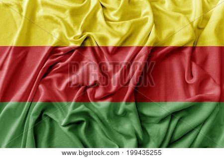 Ruffled waving Syrian Kurdistan flag national flag