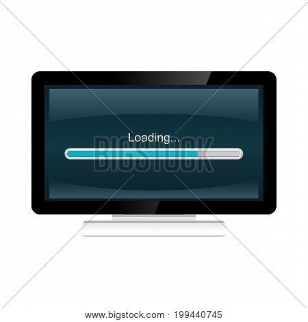 Progress loading bar. loading process interface. installing progress.