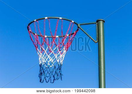 Netball Net Hoop Pole Outdoors