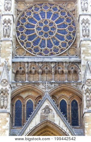 LONDON UNITED KINGDOM JUNE 21 2017: Westminster Abbey one of the most important Anglican temple London United Kingdom.The abbey starting in 1066 is the crowning place of the kings of England