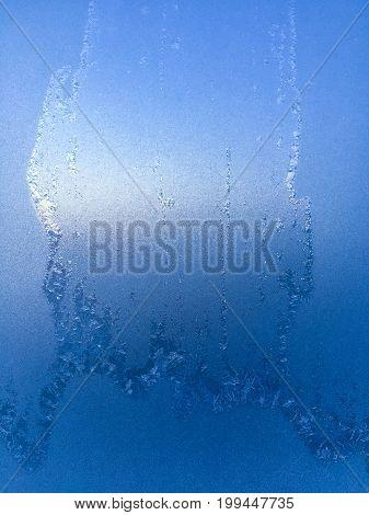 Background Of Frosty Pattern On Glass