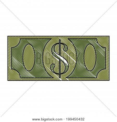 Money billet isolated icon vector illustration graphic design