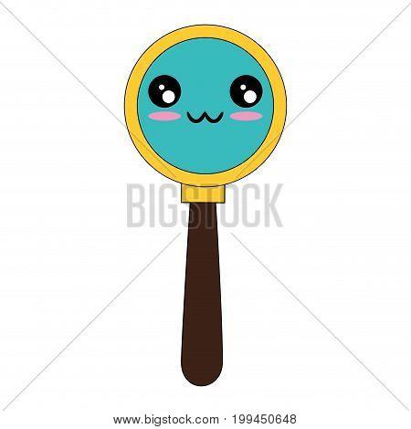 Magnifying glass symbol kawaii cartoon icon vector illustration graphic design