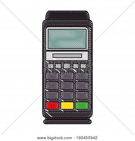 Dataphone electronic device icon vector illustration graphic design