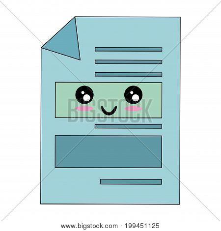 Documents sheets isolated kawaii cartoon icon vector illustration graphic design
