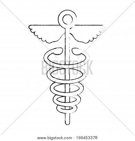 Caduceus medical symbol icon vector illustration graphic design