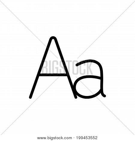 Thin Line Grammar Letter Alphabet Icon On White Background