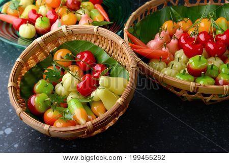 Fruit Shape Dessert Or Look Choop In Thailand.