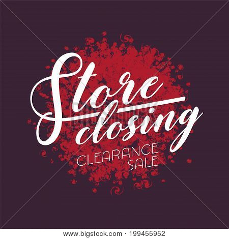 Store closing sale vector illustration, design. Template banner, flyer for clearance sale