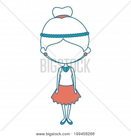 Cute cartoon girl icon vector illustration graphic design