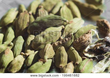 Close Up Of Cardamom - Known Ayurvedic Spice