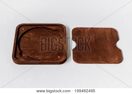 Wooden Cd Case: Timber Cd Packaging For Photographers. Dark Box