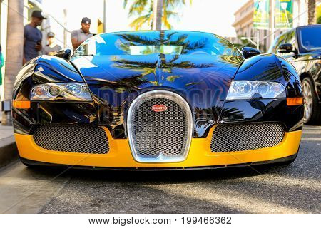 Beverly Hills, Ca - June 10, 2017: Bijan's Custom Bugatti