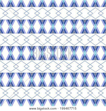 Rhombus blue on white background. Fashion graphic background design. Modern stylish abstract texture. Colorful template for prints textiles wrapping wallpaper bussines etc. Vector illustration