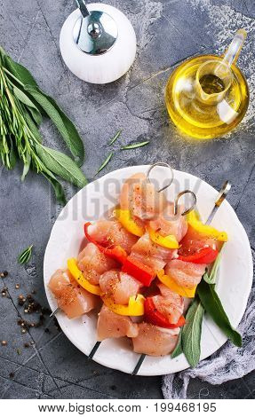 Raw Chicken Kebab