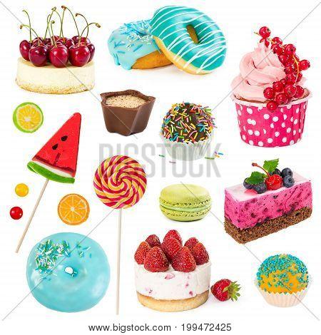 Set Of Sweet Dessert