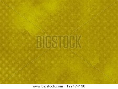 Yellow green ocherous abstract textured background texture to the point with bright spots of paint. Blank background design banner.