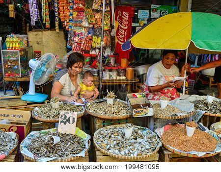 Local Market At Chinatown In Manila, Philippines