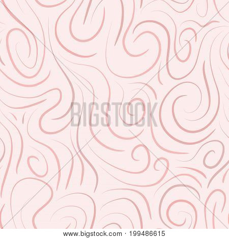 abstract vector colored swirls seamless pattern - red
