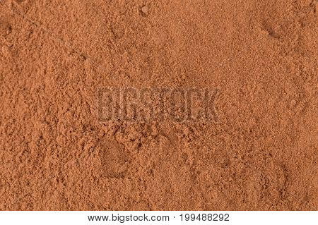 Cocoa Powder Closeup Background