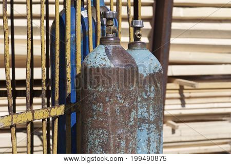 High pressure cylinders for compressed industrial gases Russia