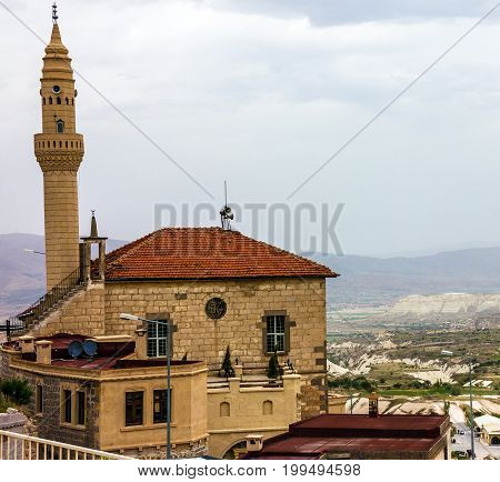 Mosque building in Uhcisar, Cappadocia, Anatolia, Turkey