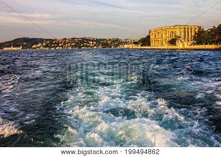 Istanbul sea water front, Bosporus view. Turkey