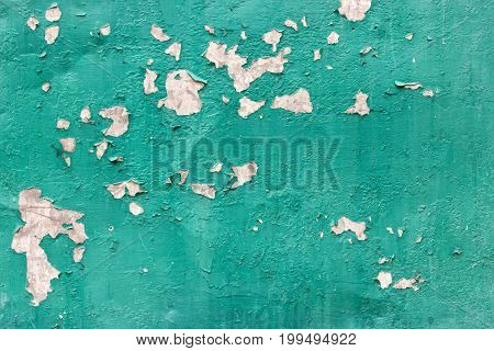 texture of rusty metal with an old peeling paint