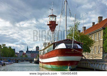 Copenhagen, Denmark - August 14, 2017: Yacht marina in sea port of Copenhagen, Denmark