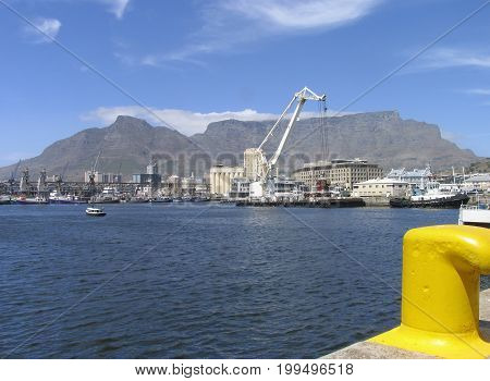 FROM CAPE TOWN, SOUTH AFRICA, VICTORIA AND ALFRED WATERFRONT ON A SUMMER DAY