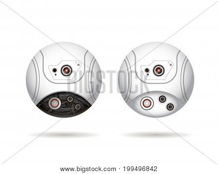 round webcam isolated on a white background
