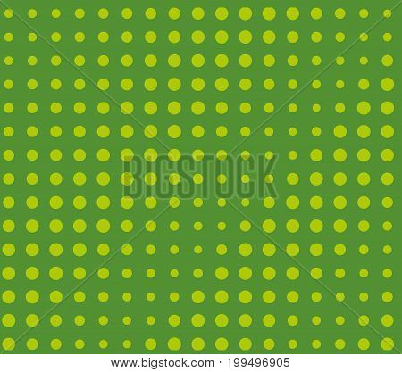 Halftone pattern. Comic background. Dotted retro backdrop with circles, dots. Design element for web banners, posters, cards, wallpapers, sites. Pop art style. Vector illustration. Green color
