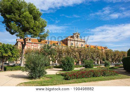 Catalonian parliament building at Parc de la Ciutadella (Park Citadel) in Barcelona Catalonia Spain